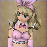DQ10勇者姫アンルシアのバニーガール桃