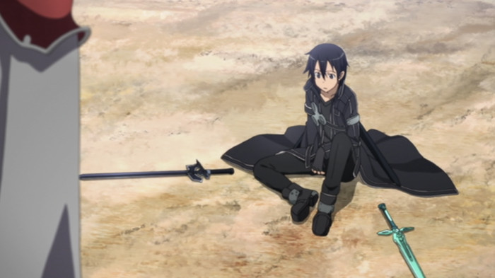 アニメ版ソードアート・オンライン 決闘に負けたキリト