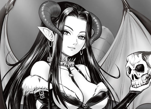 ウルのオリジナルイラスト女悪魔みだし