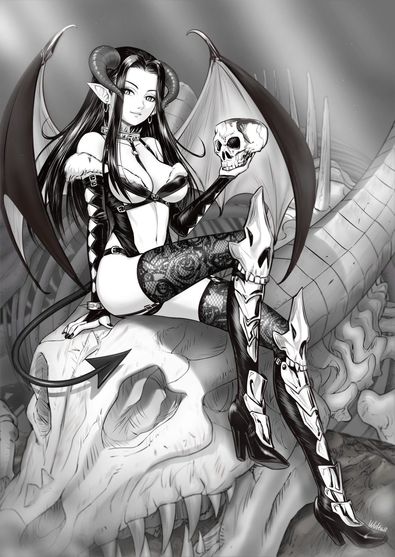ウルのオリジナルイラスト女悪魔