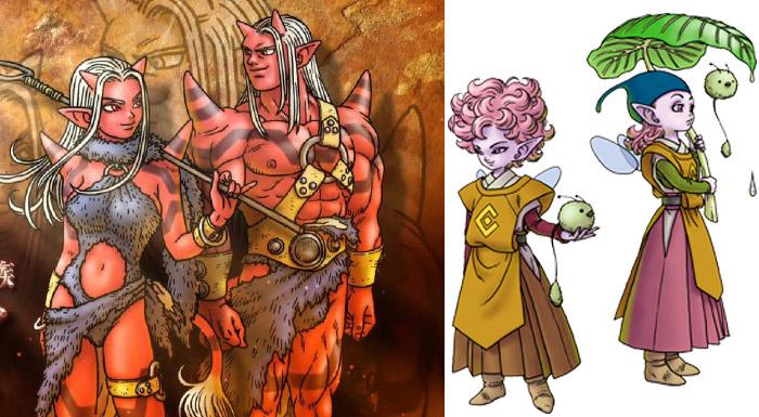 ドラゴンクエスト10のオーガ族とエルフ族