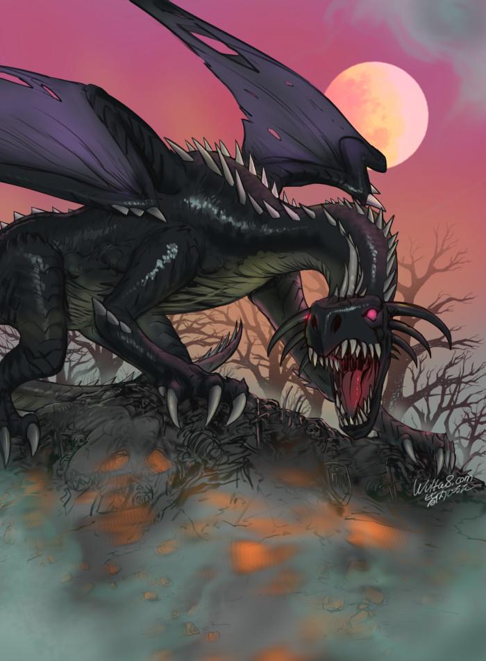 皆内ひなたイラストブラックドラゴン