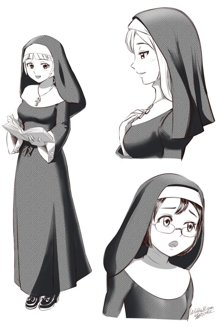 皆内ひなたイラスト修道女シスター