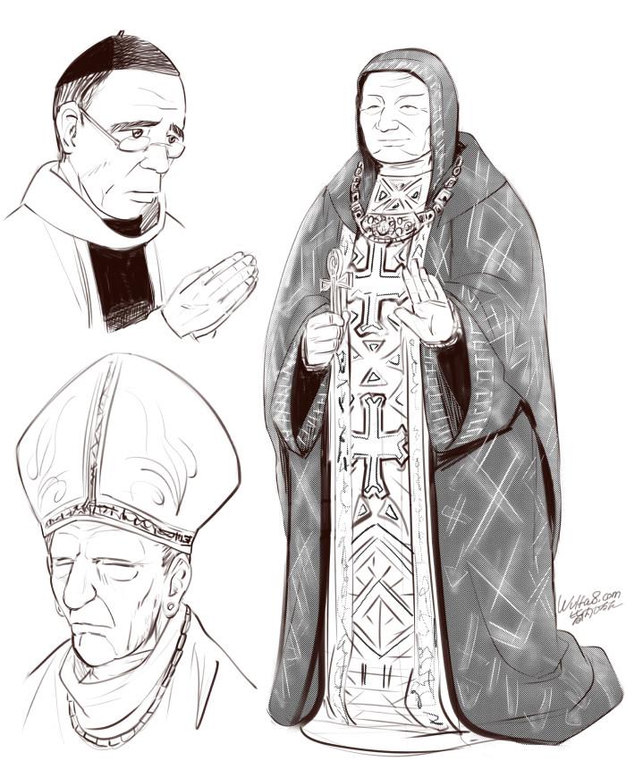 皆内ひなたイラスト聖職者
