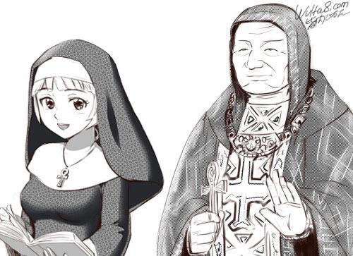 大司教とシスターのサムネイル