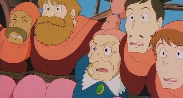 アニメ「天空の城ラピュタ」ドーラ一家