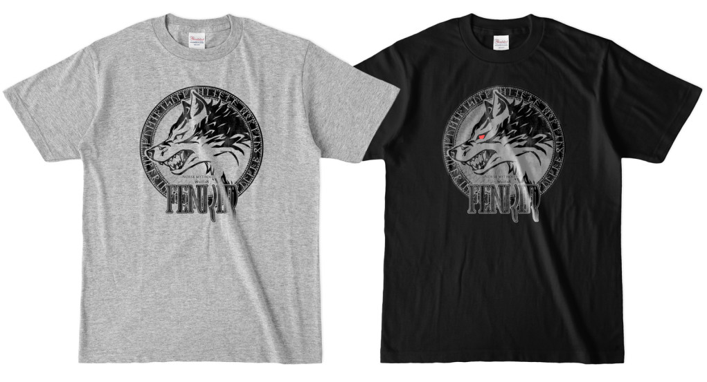 Fenrir─狼─ Tシャツ 杢グレー&黒