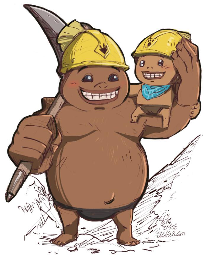 ゼルダの伝説ブレスオブザワイルドのゴロン族の兄弟グレーダとププンダ
